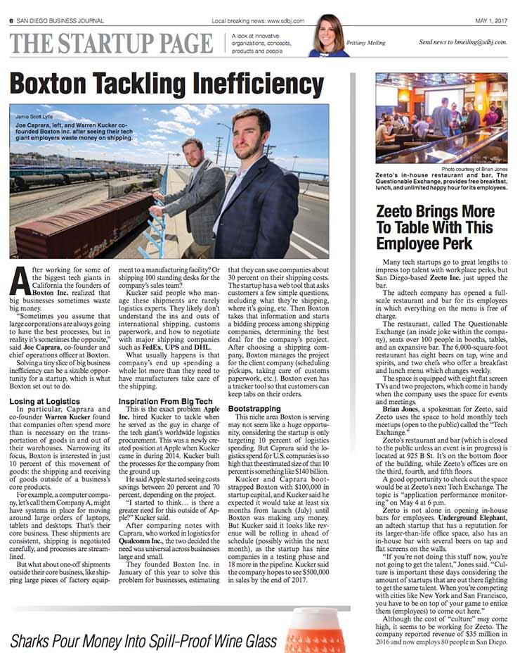 Boxton San Diego Business Journal